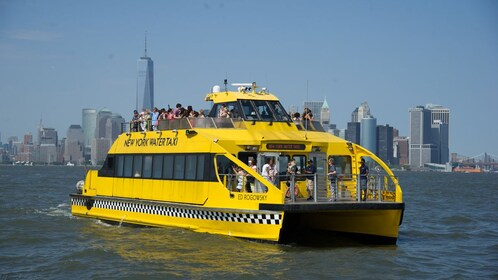 New York Water Taxi with passengers