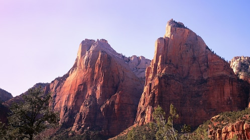 Zion National Park scenic view of the desert cliffs