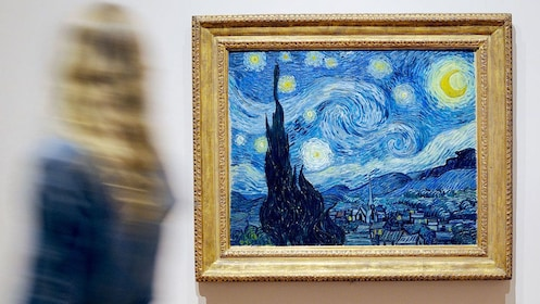 Van Gogh's Starry Night painting on display at the Museum of Modern Art in New York