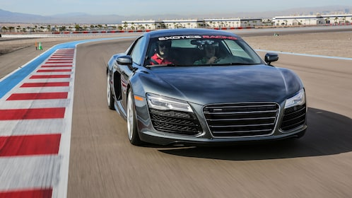 Audi R8 V10 on the exclusive Exotics Racing circuit