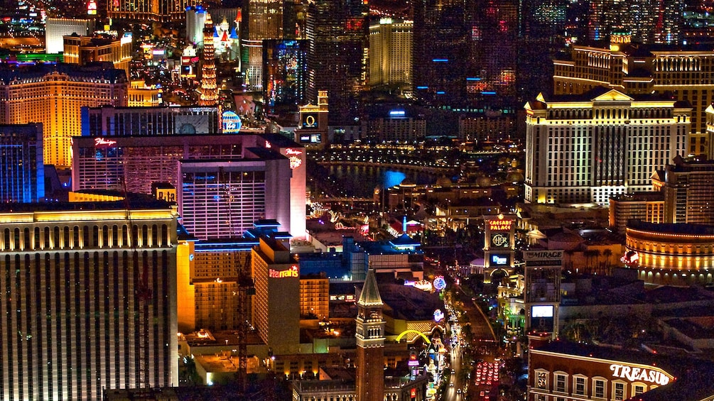 Fly over the Las Vegas strip on a Maverick helicopter