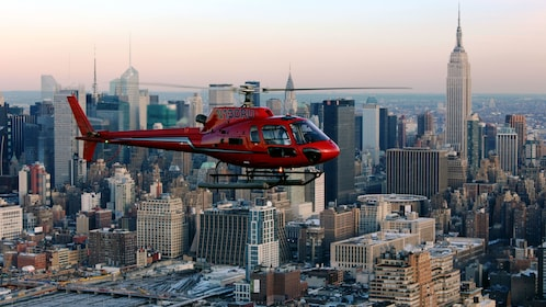 Helicopter over the city of New York