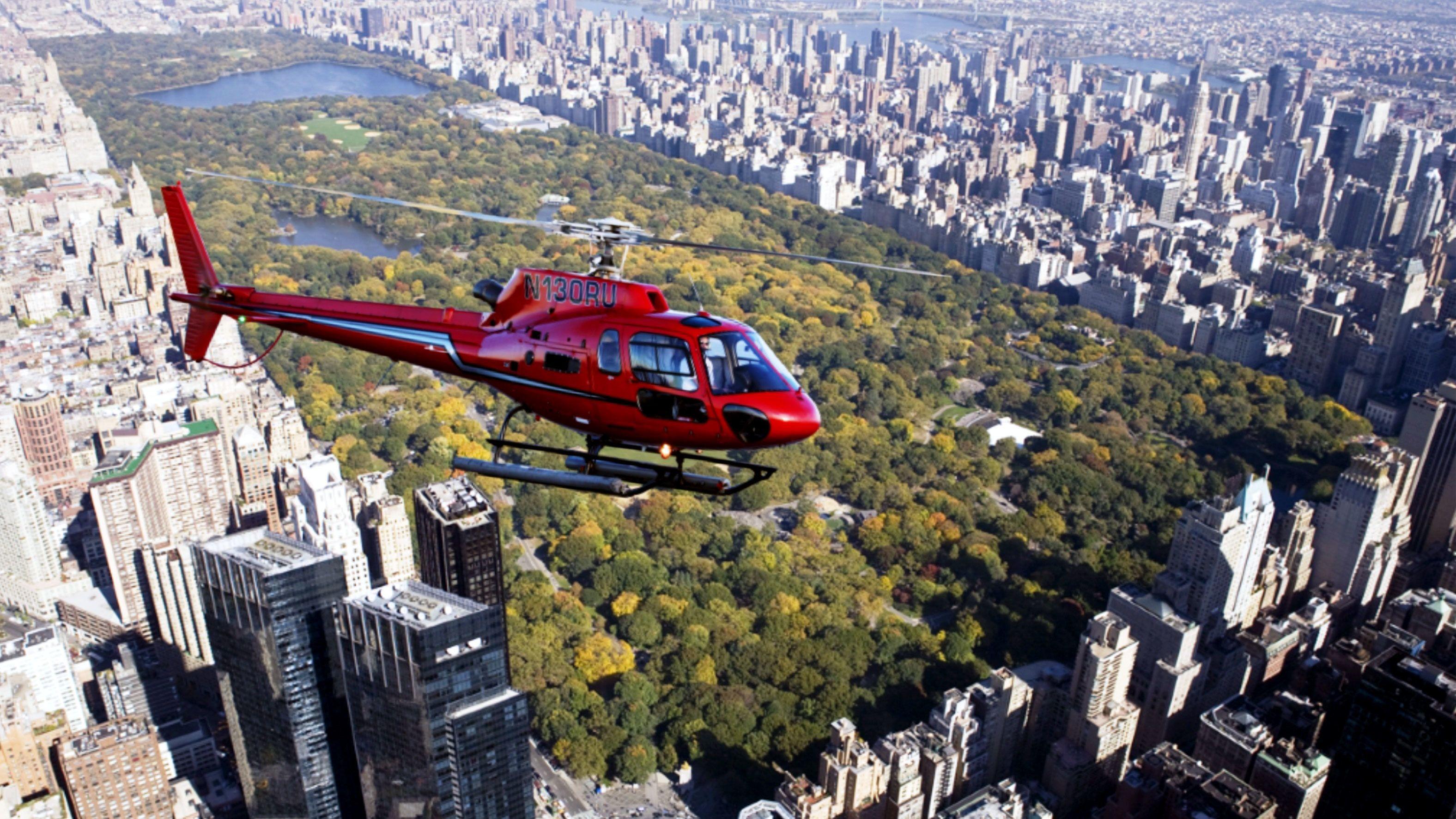 Luksuriøs helikoptertur i New York: alle fem bydele