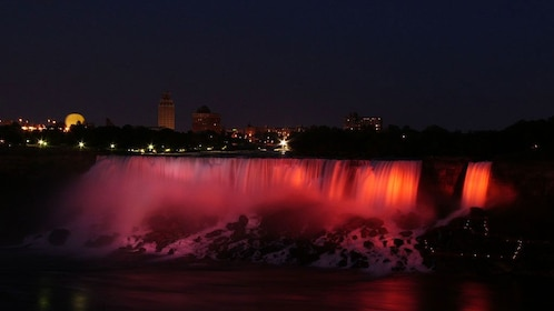 Niagara Falls illumination at night