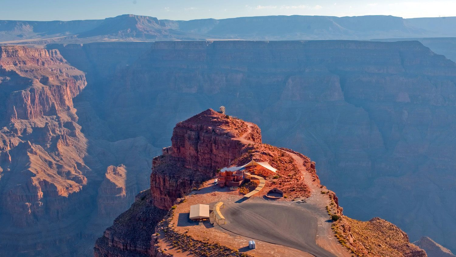 Grand Canyon aerial view from a Mustang helicopter