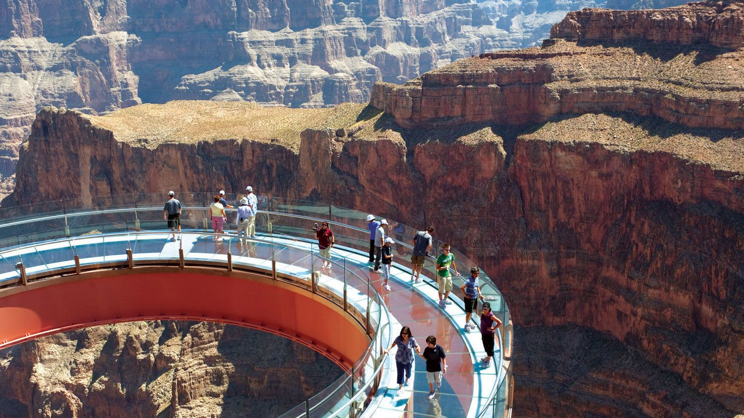 Grand Canyon Skywalk is an optional pitstop attraction during the helicopter tour