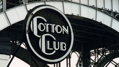Cotton Club nightclub sign in Harlem New York
