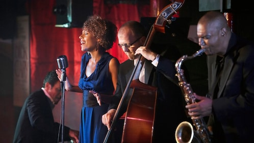 Jazz group performing onstage in New York