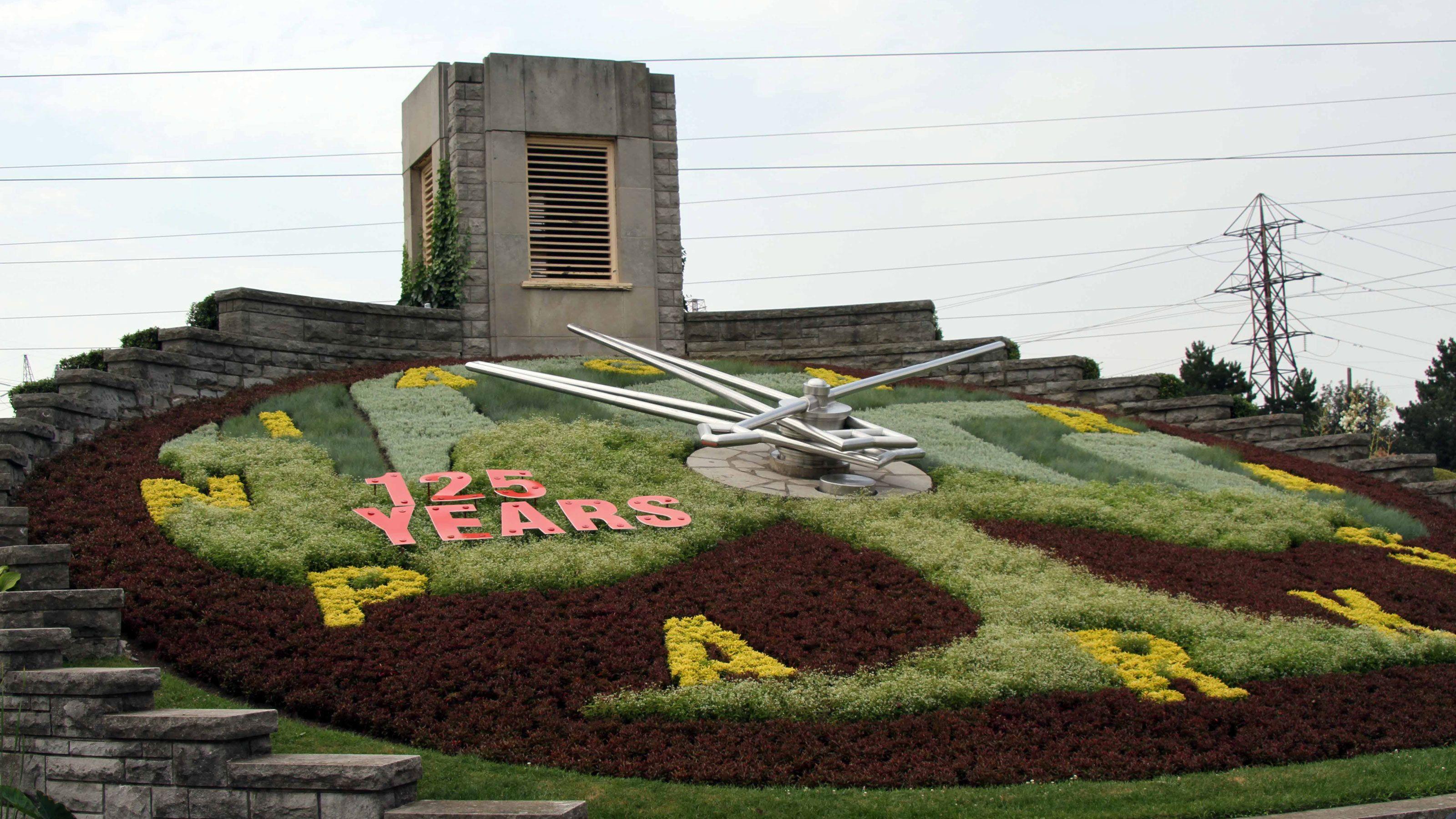 The Floral Clock at Niagara Park in Ontario