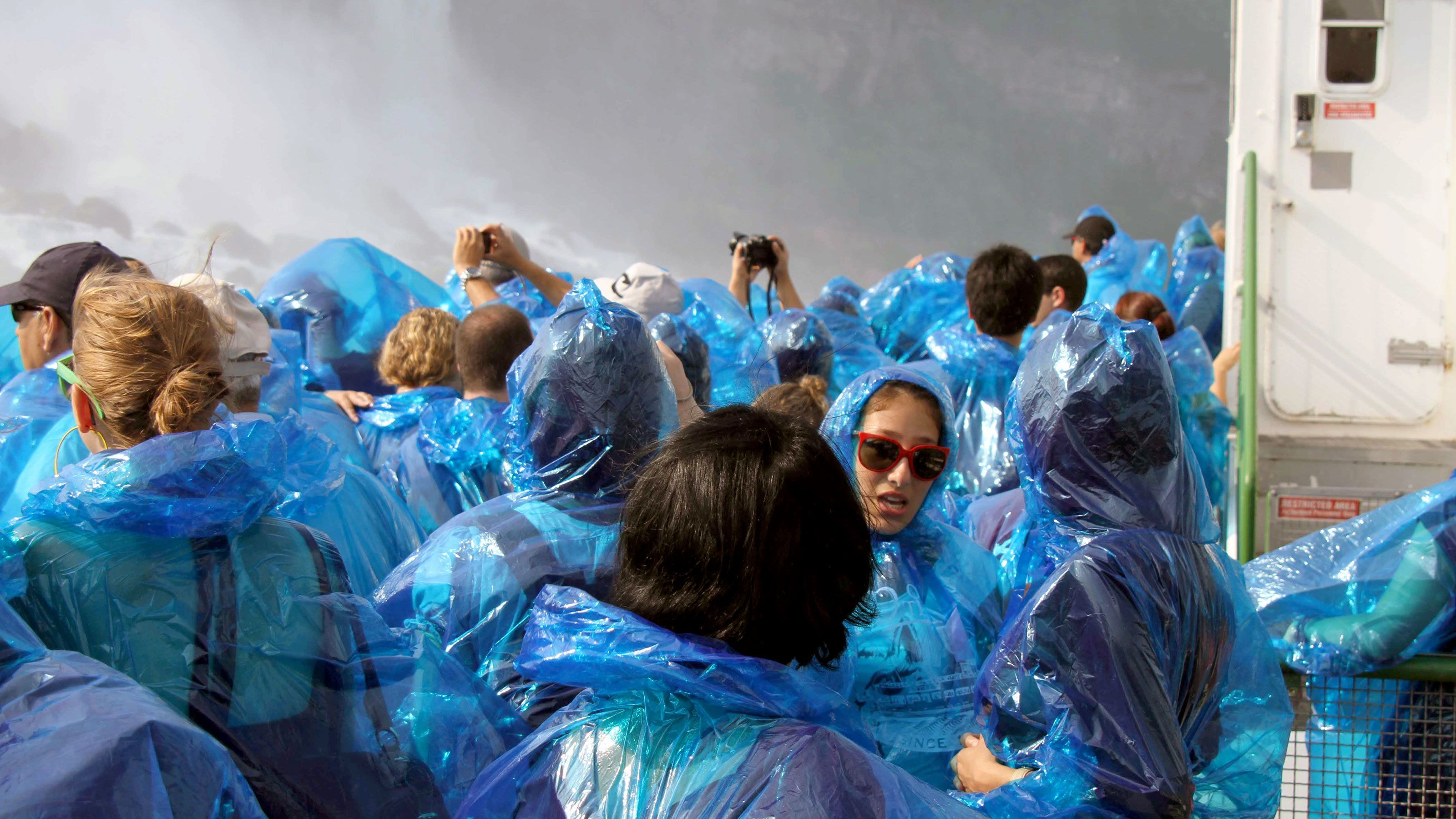 Niagara Falls tour group at an observation deck