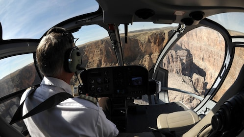 Ride a Maverick helicopter to experience a unique view of the Grand Canyon