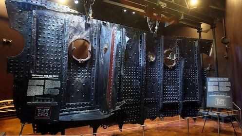 Artifacts of the Titanic's hull that were retrieved from the wreckage