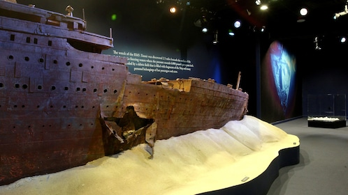 Replica of the Titanic's wreckage