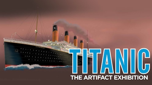 Graphic of the Titanic before it sank into the depths of the Atlantic