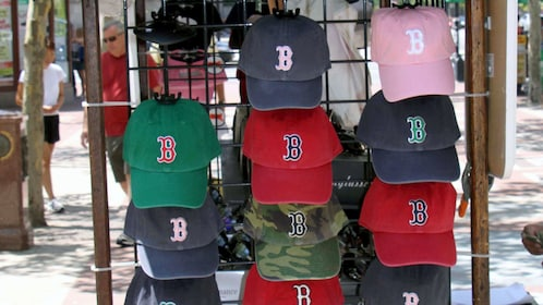 Boston Red Sox hats for sale in Boston
