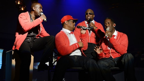 Boyz to Men singing live onstage at the Mirage Resort and Casino, Las Vegas