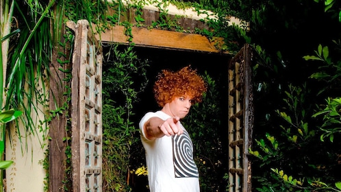 Carrot Top, ready to perform at the Luxor Hotel and Casino