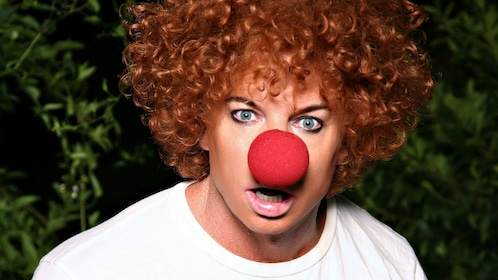Portrait of Carrot Top performing one of his stage acts