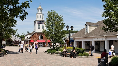 Shoppers at the Woodbury Outlets in New York