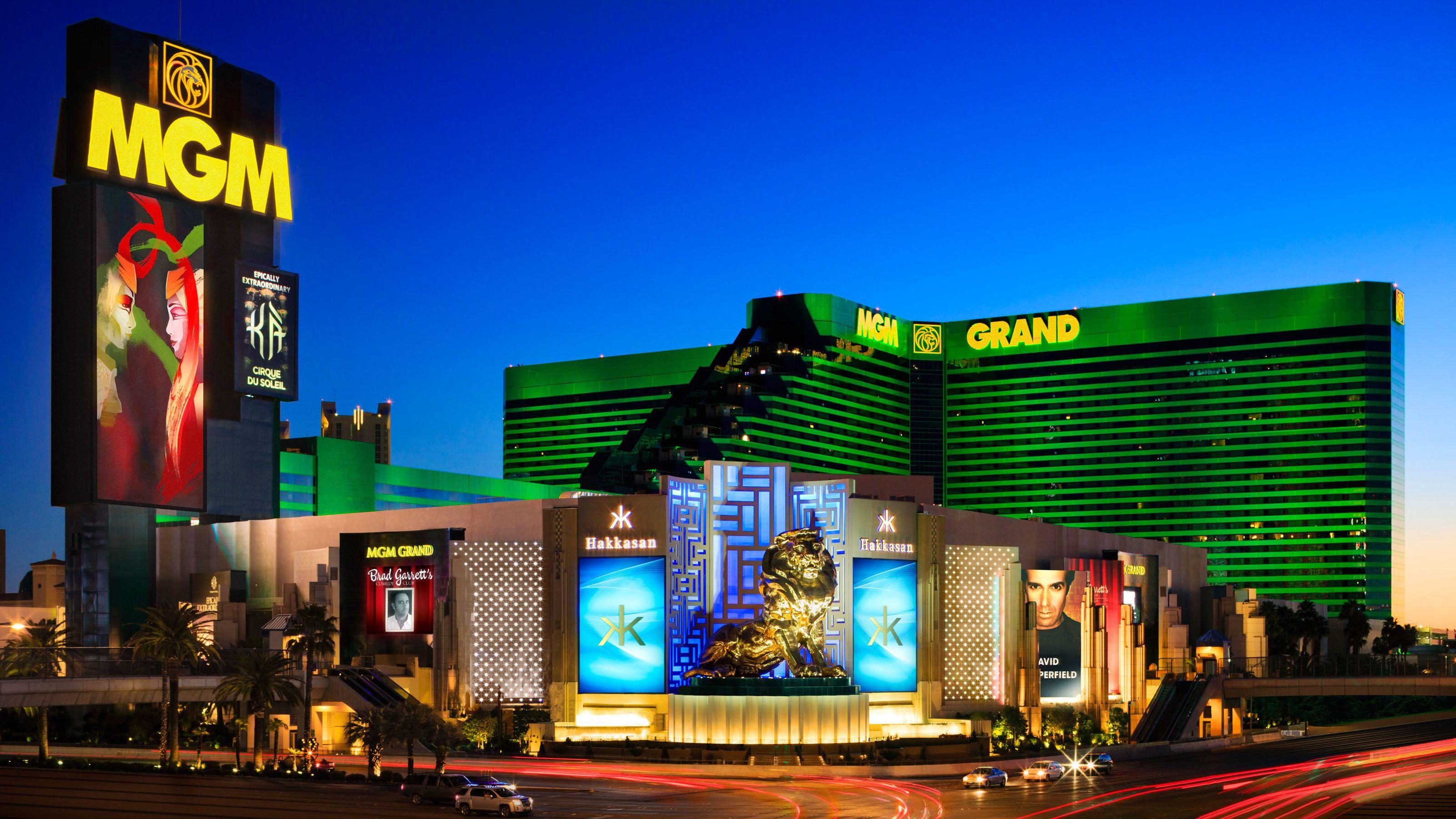 MGM Grand Las Vegas exterior view at sunset