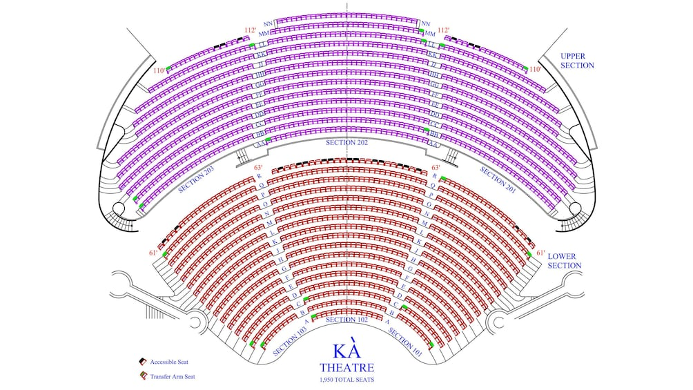 Charger l'élément 5 sur 4. Seating chart of the KA theatre at the MGM Grand, Las Vegas