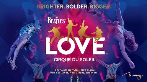 Promo design for Love by Cirque Du Soleil