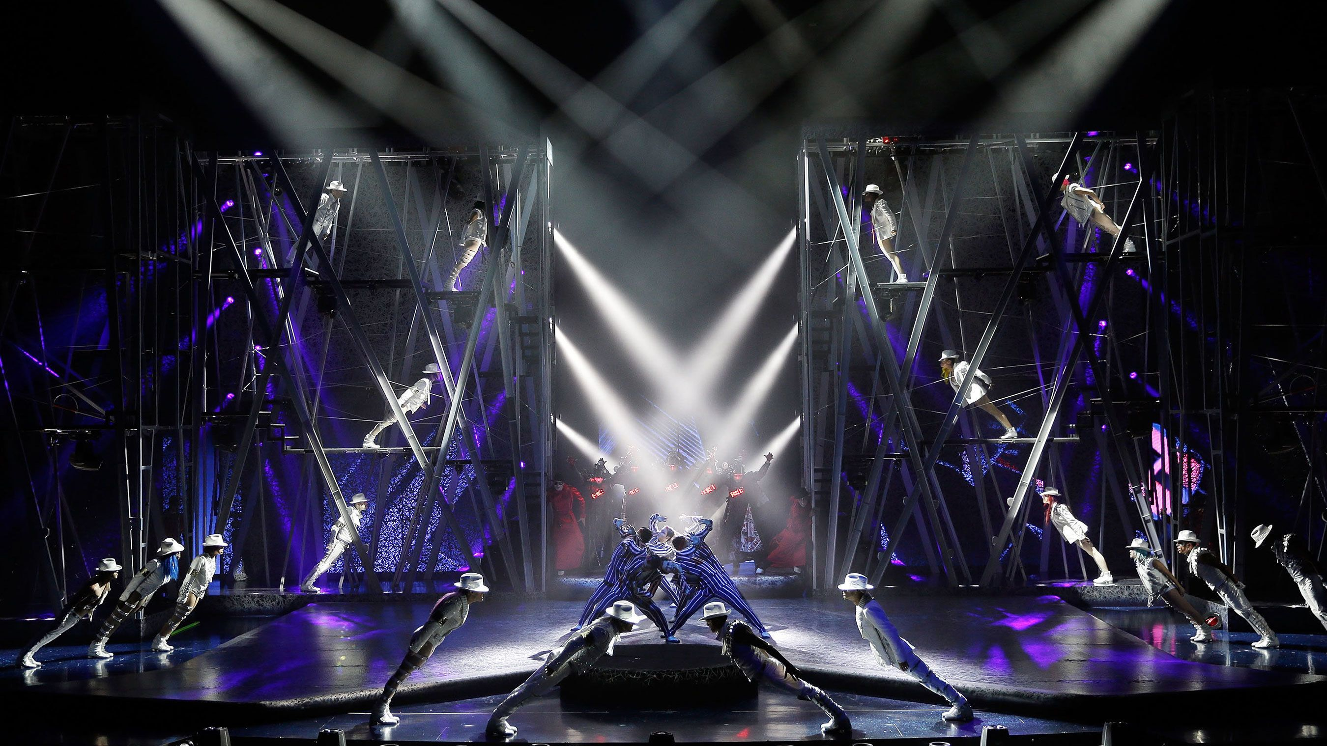 Tribute to Michael Jackson's Smooth Criminal dance routine performed live onstage at Mandalay Bay in Las Vegas