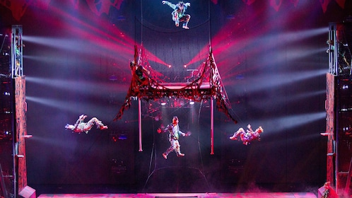 Acrobats perform to songs by Michael Jackson at One, by Cirque du Soleil® in Las Vegas