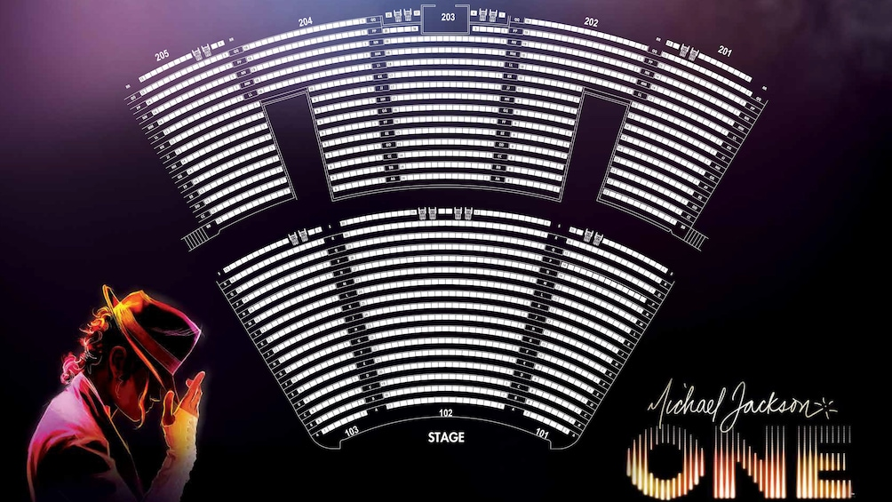 Show item 2 of 7. Seating chart for Michael Jackson One, by Cirque du Soleil® in Mandalay Bay