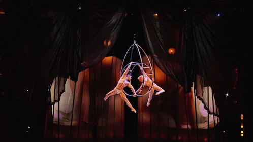 Acrobats in mid air at Cirque De Soleil Zumanity
