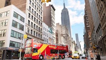 """Passeio em ônibus """"hop on/hop off"""" em Nova Iorque"""