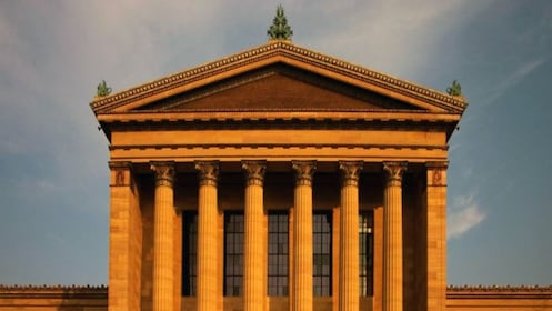 The columns of the Philadelphia Museum of Art