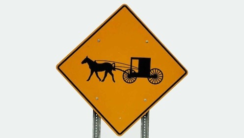 Amish Country horse and buggy street sign in Pennsylvania