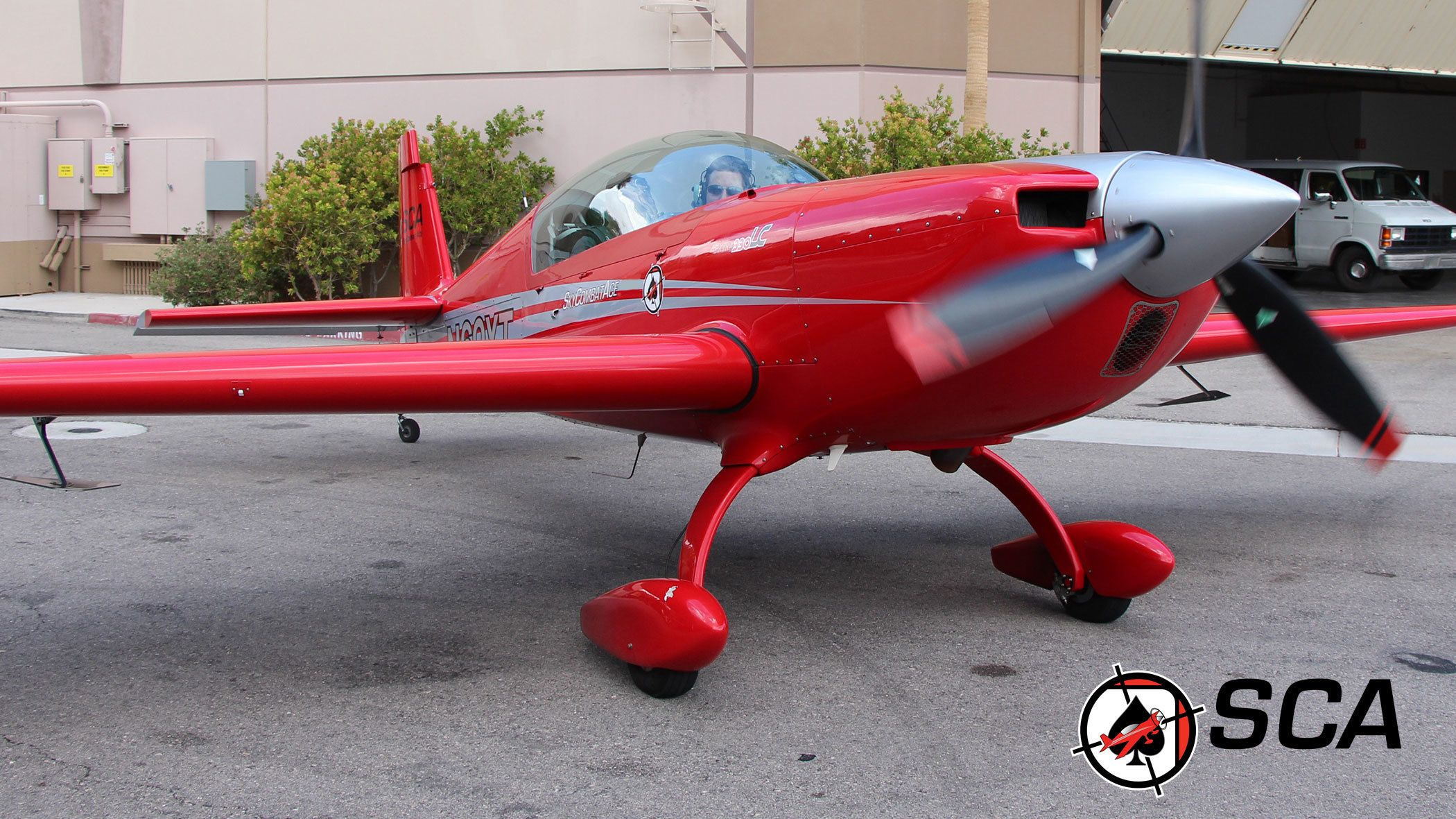 Red Sky Combat Ace airplane in Las Vegas
