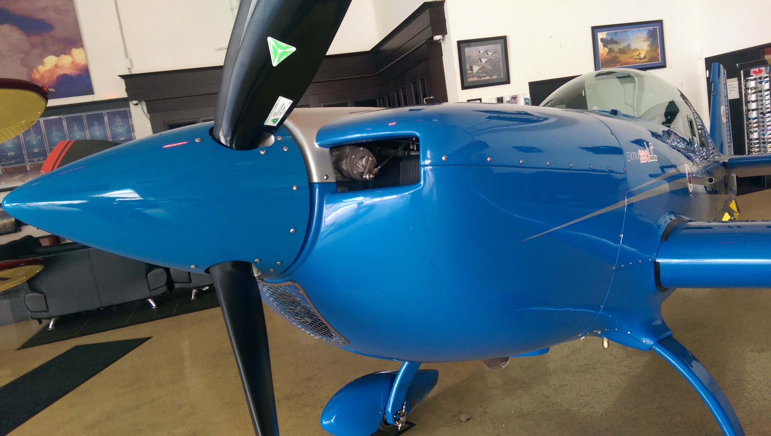 Blue airplane at Sky Combat Ace in Las Vegas