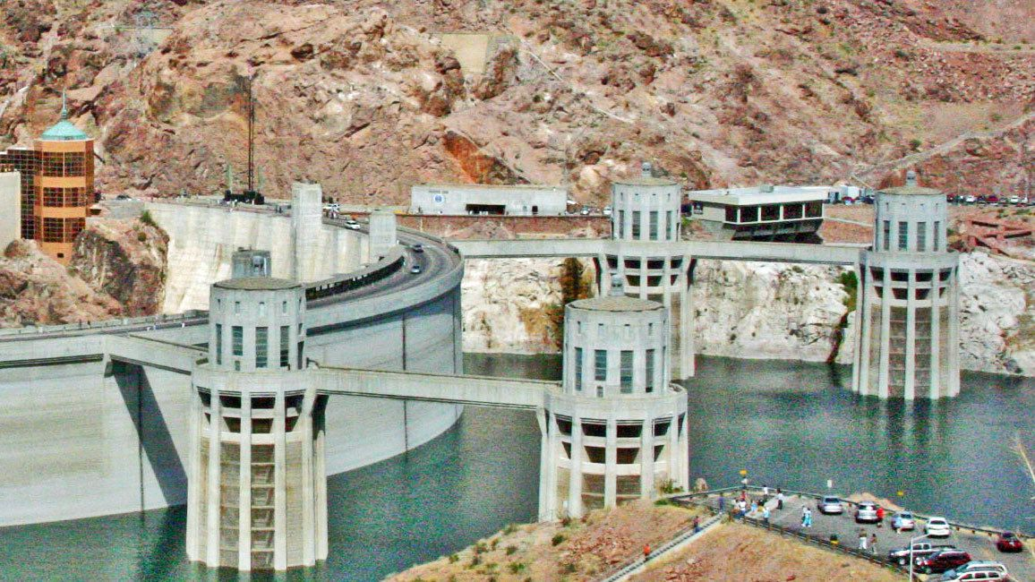Hoover Dam close up view