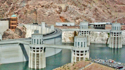 Close up image of Hoover Dam in Las Vegas