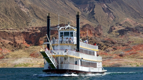 View of the Desert Princess a paddle-wheeler on the waters in Las Vegas