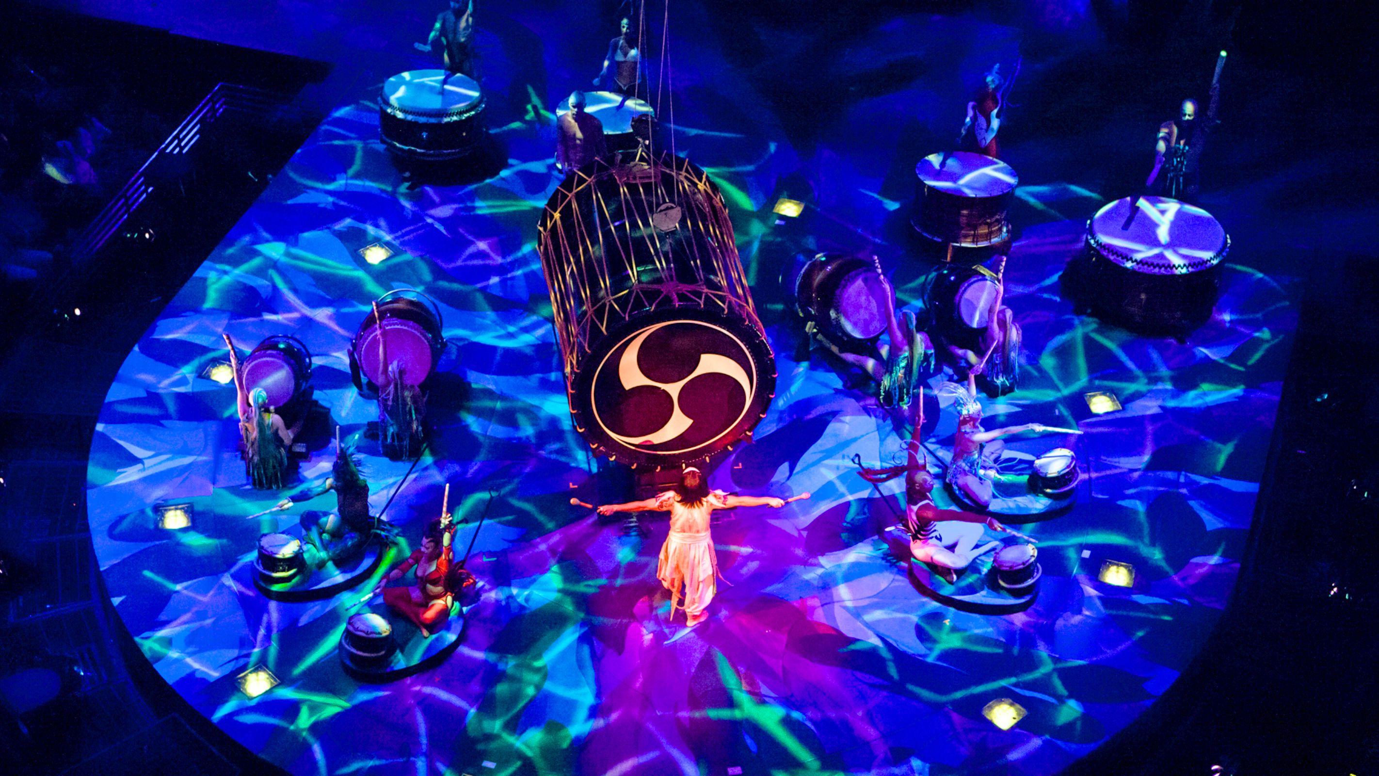 Aerial view of Cirque Du Soleil show
