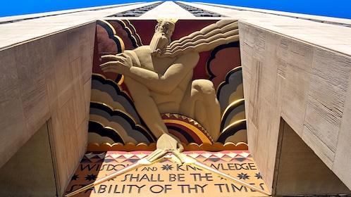 Zeus artwork on the building at Rockefeller Center in New York