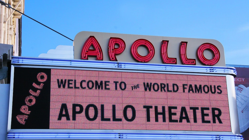 Show item 1 of 6. Apollo Theater marguee in New York