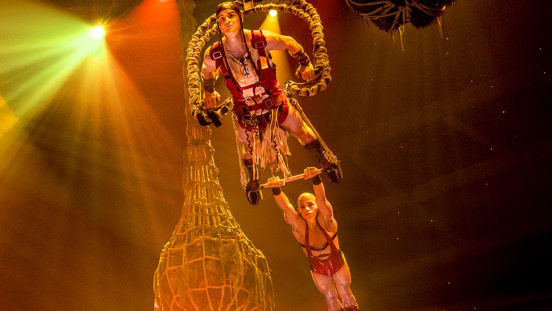 Acrobats perform in Le Rêve The Dream at the Wynn Las Vegas