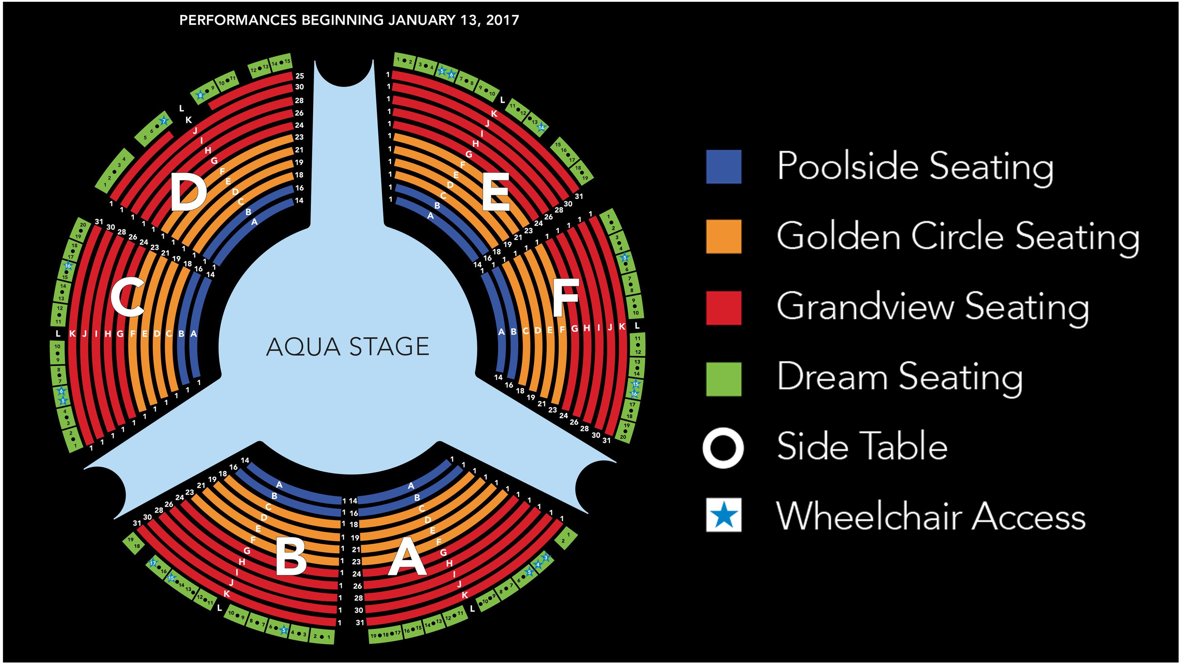 Aqua stage seating at Wynn Las Vegas
