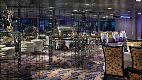Cruise boat dining room in New York