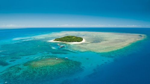 Stunning aerial view of the Green Island Reef in Cairns