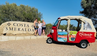 Costa Smeralda Sightseeing Tour with Tuk Tuk
