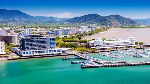 Gorgeous day view of the city of Cairns