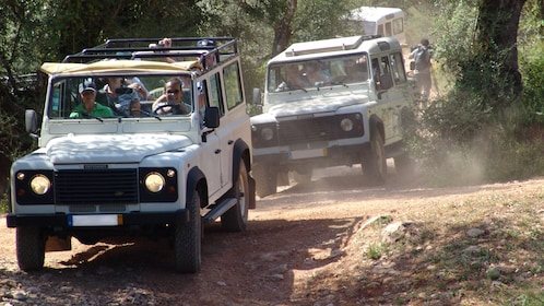 Jeeps on a dirt road in the Algarve