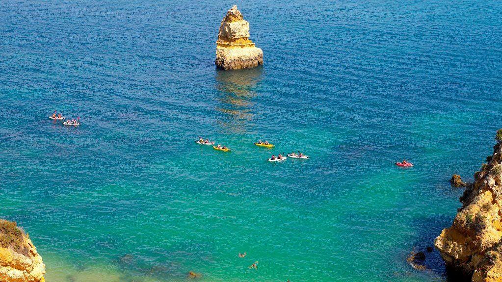 Kayaking group off the coast of Lagos