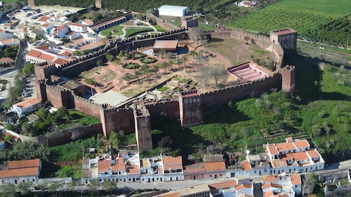 Looking down at the Silves Castle in Silves